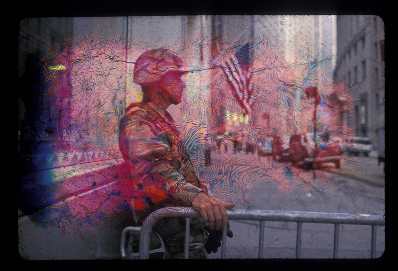 soldier on Wall Street on 9/11